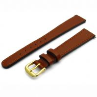 Tough Replacement Leather Watch Strap 14mm Tan D022